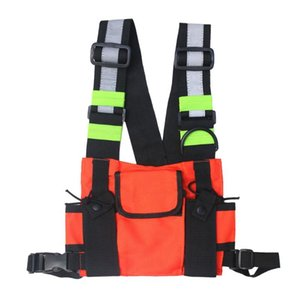 Men Women Chest Rig Bag Streetwear Hip Hop Reflective Vest Functional Harness Chest Bag Pack Front Waist Pouch Backpack