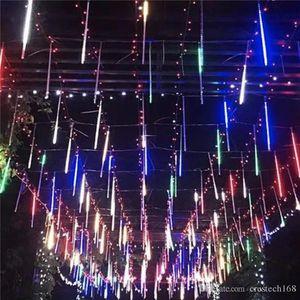 20cm 30CM 50cm meteor yağmuru 8 tüp LED dize Noel düğün dekorasyon avizeler 110V-220V crestech için su geçirmez ışıkları
