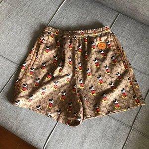 20SS Summer Street Designer Shorts femme taille élastique Pantalon court Loose Women Casual solides souples Fille courtes Jeans Pant rats complet 5.10