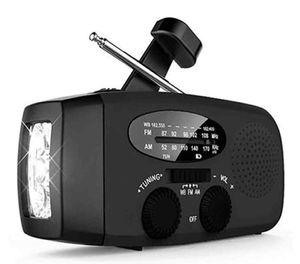 AM / FM / WB Солнечный свет Радио чрезвычайным Солнечной Ручной мощность 3 Светодиодный фонарь электрический фонарик Динамо Яркое освещение лампы Новый Items ZZA392