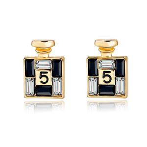 Chegada Nova Moda Bijoux brincos de ouro Channel para Mulheres Crystal Stud Brincos ornamentos personalidade feminina
