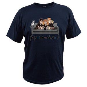 Best Friends T Shirt - Herry Magical Wizard Sofa Halloween TShirt Crewneck Soft EU Size 100% Cotton Breathable Shirt