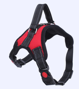 12 Arten Hundeweste Geschirre Safety Lock Schnalle Verstellbare stark gepolsterte Brust Großes und mittelschweren Hundegeschirr Zubehör Zubehör