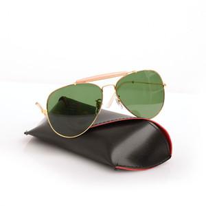 Yeni Erkek Güneş gözlükleri Yeni Kadının Güneş Gözlüğü pilot shooter gözlük Marka Tasarımcı Güneş Gözlüğü 3029 Orijinal Kılıfla ...