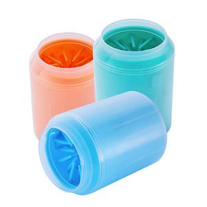 Doggy Foot Wash artefatto secchio barile articoli per animali domestici non tossico tazza gel di silice molti colori portatile all'aperto forma pilastro 8 33zx p1