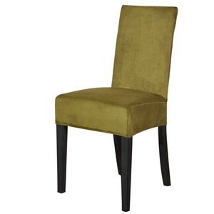 Dreamworld Solid Color Stretch Chair Covers Spandex Velvet Covers Dining Modern Chair Decoration Plain Dyed Sleepcover