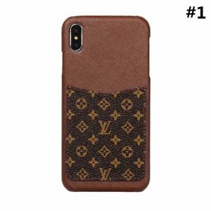 New Luxury Fashion Designer Cover Griglia in pelle per telefono Cover posteriore per iPhone X XS Max con custodia per iPhone 6 8 plus