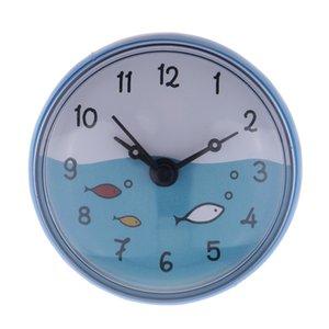 Bathroom Wall Clock aspirazione Tempo impermeabile Display Italia Home Decor regalo