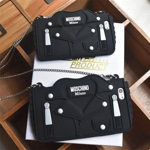 3D мультфильм дизайн сумки с шнуром Мягкий силиконовый чехол для телефона для iPhone xs max xr 6 6S 7 8 Plus X Cover