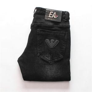 Fit Erkek Giyim Özgün Tasarım Erkekler Moda Jeans Düz Pantolon İnce Şık Ve Rahat Elastik Stil Jeans Pop