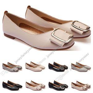 dames Chaussures plates taille lager 33-43 femmes fille nue en cuir gris noir Nouveau arrivel mariage Groupe de travail chaussures habillées Quarante-trois
