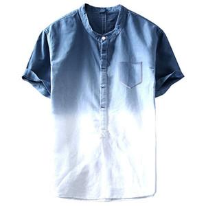 Designer T-shirts gefärbte T-Shirts Taschen Casual Tie Line Hombres Strand Sommer Mode Herren CNVGI
