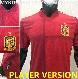 Neue 2020 Spanien Fussball Jersey Spielerversion Espana 20 21 Camiseta de Futbol Sergio Ramos Morata Ferran Asensio Ansu Fati Olmo Football Hemd