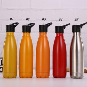 2020 Yeni Cola Su Cola Kupası ZZA1888 için su şişesi 500ml Tek katmanlı Paslanmaz Çelik Doğa Sporları İçecek Şişeler Şeklinde