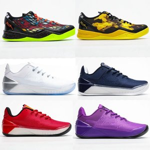 MAMBA 8 System GC 8s Men Basketball Shoes A.D Ep Flip the Switch Lakers Sports Sneaker Black Purple Luxury Sneakers Chaussures 40-46