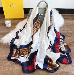 Nuove sciarpe di seta da donna Sciarpe di seta di marca di alta qualità Sciarpe Sciarpe 180x90cm Sciarpa di Pashmina Infinity Scialli da donna