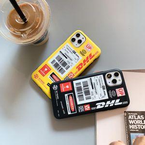 للحصول على اي 11 حالة برو ماكس اللوجستية مضحك علامة مميزة DHL أزياء لينة حالة الهاتف المحمول لفون 7 7plus غطاء 8 8plus X XR XS MAX