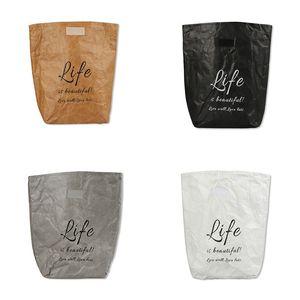 Обед Kraft Paper Bag Складная многоразовый Герметичные контейнер еды большой емкости Обед Bento Теплоизоляция алюминиевой фольги мешок