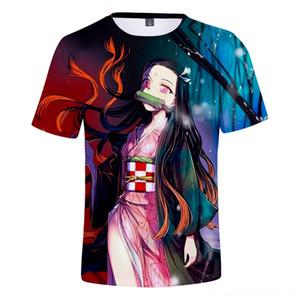 Ghost Blade Popular 3D Fashion Hip Hop TShirt Men and Women Short Sleeve Demon Slayer Autumn Summer Womens Mens Women's Tops & Tees Women's
