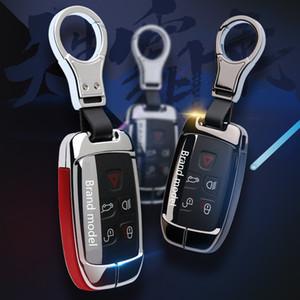 3colors Car Key Case Shell en alliage de zinc + Clé de protection en cuir Couverture pour RangeRover Sport Edition Accessoires Auto-Styling rouge bleu noir