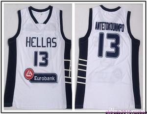 اليونان هيلاس كلية الفانيلة الأبجدية كرة السلة 13 جيانيس أنتيتوكونمبو جيرسي الرجال فريق الأبيض الرياضة تنفس الموحدة انخفاض الشحن