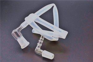 14 мм 18 мм мужской женский стеклянный адаптер для кнута из парового стекла 90 градусов Extreme Q V-Tower испаритель стеклянный колено адаптер со шлангом для воды