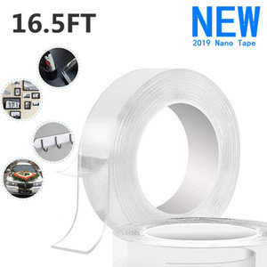 Double Sided Adhesive Grip Tape Traceless Transparent Gel Mat Tape Nano Washable Removable and Reusable Sticky Anti-Slip Gel Tape