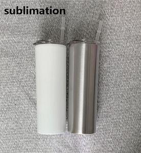 DIY Sublimation dünn Zuhaltung 20 Unzen Edelstahl dünne Vakuum gerade Becher Becher isoliert Reisebecher beste Geschenk
