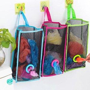 Высокое качество Складной дышащая сетка Висячие Кухня мешки для мусора чехол для хранения SORTING Перчатки носки Организаторы