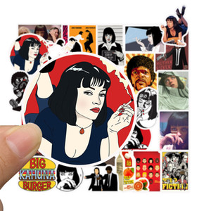 50 pcs Pulp Fiction stickers Pretty Girls Mixed For Car Waterproof skateboard personality suitcase sticker Phone Ipad Decal Pvc Stickers