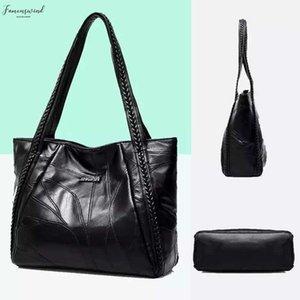 Drop Shipping Women Tote Bag Genuine Sheepskin Patchwork Casual Hand Bags Big Capacity Shoulder Bag Large Ladies Shopping Bags