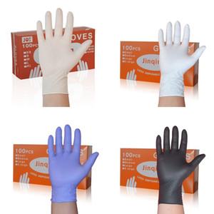 Одноразовые нитриловые перчатки резиновые заводские салонные бытовые резиновые садовые защитные перчатки нитриловые латексные резиновые перчатки 100 шт. / кор.
