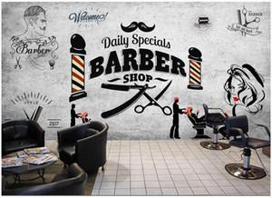 WDBH 3d photo papier peint personnalisé murale rétro salon de coiffure tendance coiffure salon de beauté salon de coiffure coiffeur salon papier peint