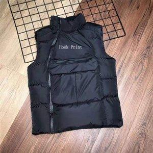 Mens Jacket Brasão Vest baixo Exteriores Blusão para mulheres dos homens Quente Esporte Brasão Vest Com Oblique Zippers Estilo Jackets Grosso