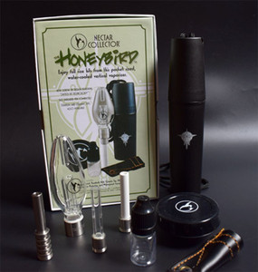 Titanyum Seramik Kuvars İpucu Mini Cam Boru Petrol Kulesi Bal Kuş Konsantre Bal Dab Mini Cam Bong ile Honeybird Nektar Kollektör Setleri