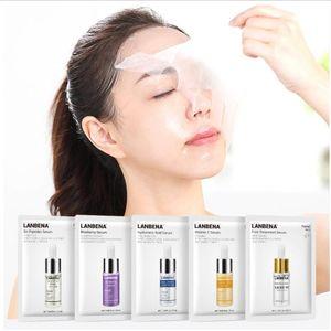 Máscaras Mujeres Cuidado de la cara LANBENA vitamina C Serum arándano Hoja Mascarilla Hidratante Whitening Face Cuidado de la Piel
