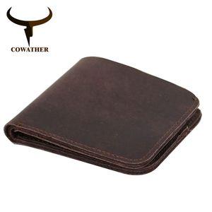 Cowather 2019 Vintage Cross Style Kuh Echtes Leder Brieftaschen Für Männer Top Qualität Neue Handwerk Handgemachte Beliebte Ursprüngliche Marke Y190701