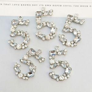 Le donne di cristallo del NO5 fascini dei monili di Diy maglione braccialetto gioielleria collana catena pendente componenti accessori di alta qualità