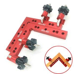 Tratamiento de la madera en forma de L ajustable esquina de sujeción Regla de aluminio en ángulo recto abrazaderas G clip de la abrazadera auxiliar Fixture Posicionador