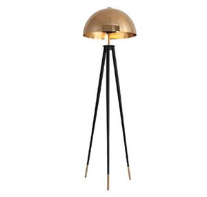 Nordic Mushroom Gold Tripod Торшер Office для дома Спальня Гостиная Reading Постоянный светильник FA036