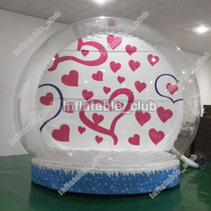 Globo de nieve inflable al por mayor de fábrica 3m dia inflable humsn snow para la venta claro patio de Navidad snoe globe con bomba de aire