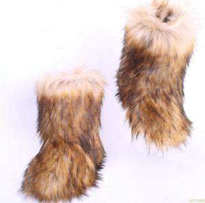 Bota Femmes neige Bottes femmes Chaussures d'hiver 2020 chaud cheville Bottes femmes Chaussures Casual hiver en fausse fourrure Boot pour