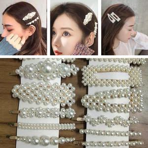 Carino clip dei capelli delle donne perla coreana di stile Forcine Tipi dei gioielli lucido Hairclips di Barrette per le signore delle ragazze dei capelli accessori E3202