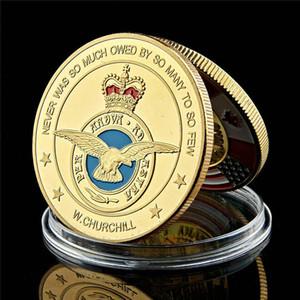 Mücadelesi Para Lüksemburg Kraliyet Hava Kuvvetleri Asker Emekli 1oz Altın Kaplama Coin Askeri Hatıra Para