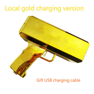 Tuhao gold & cool red & lovely pink spewing gun hand shot money gun party game props Emulation dollar Free Shipping supermygun cash cannon