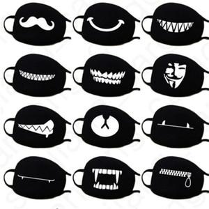 Cartoon Gesichtsmasken Anti Staub Gesicht Abdeckung Maske Kawaii Anime Lustige Winddicht Masken Kaomoji-kun Emotion Atmungs Baumwolle Mund Maske D31406