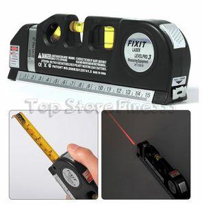 مقياس ليزر ليزر متعددة المستوى خط 8FT + شريط قياس حاكم تعديل ستاندرد آند الحكام متري بالجملة الفنية