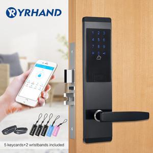 TTlock التطبيقات الأمن الالكترونية قفل الباب، APP WIFI الذكية التي تعمل باللمس شاشة قفل، الرقمية كود لوحة المفاتيح Deadbolt وللمنازل للشقق الفندقية T191029