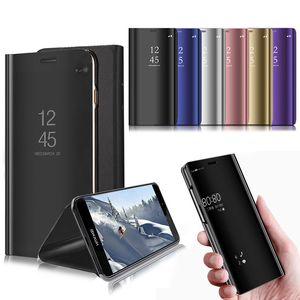 Samsung Note için elektrolizle Ayna Görünümü Akıllı Tutucu Kickstand Kılıf 10 9 S20 artı S20 S10 A20, A51, A71 A10E A10S A20S A20E A50 A70