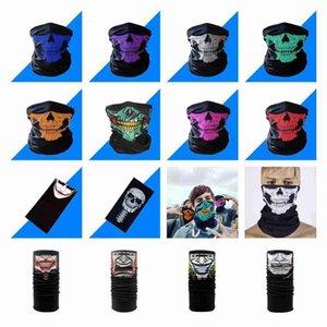 14 стилей Велоспорт банданы череп маска для лица Хэллоуин волшебные шарфы Спорт на открытом воздухе магия тюрбан шейный платок повязка ZZA2372 600 шт.
